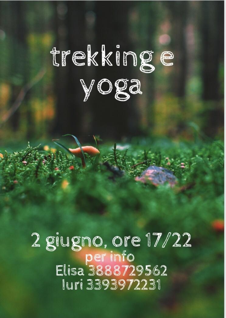 Yoga all'aperto con trekking